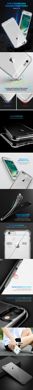 ROCK FENCE Obudowa Etui Przezroczyste do iPhone 7