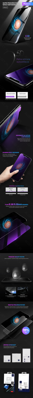 SZKŁO HARTOWANE ROCK Szybka 9H 0,26mm iPhone X 10